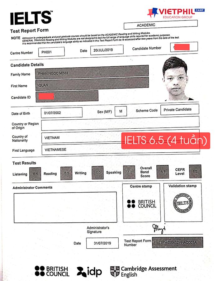 Luyen thi IELTS tai Philippines Phan Ngoc Minh Quan