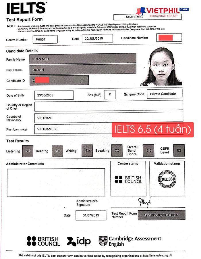 Luyen thi IELTS tai Philippines Phan Nhu Quynh