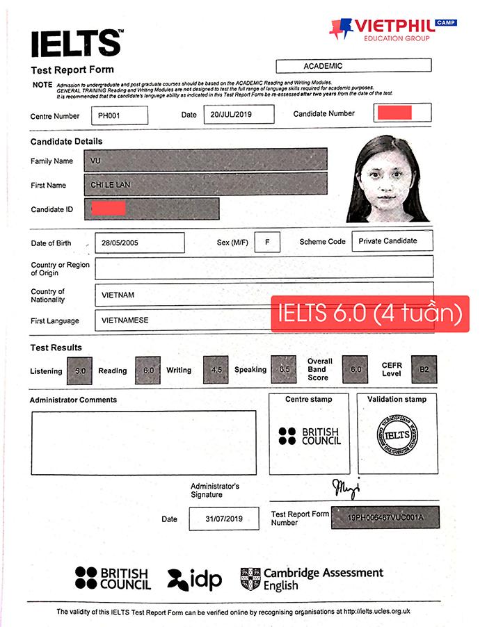 Luyen thi IELTS tai Philippines Vu Chi Le Lan