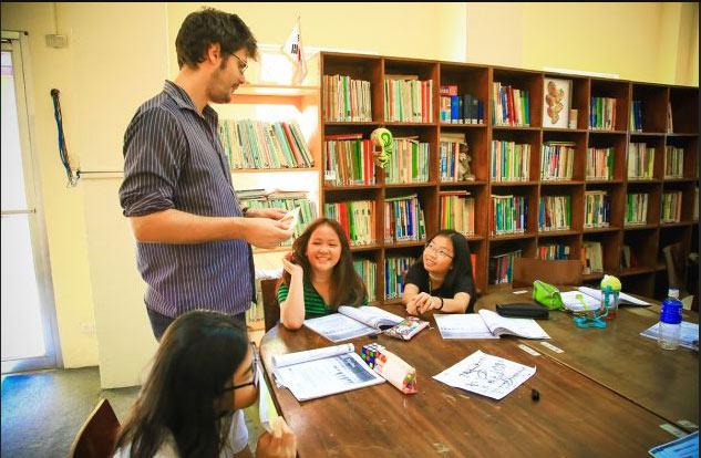 buổi học anh ngữ tại Ok english